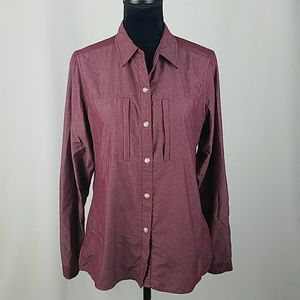 Exofficio women M outdoor button down shirt hiking